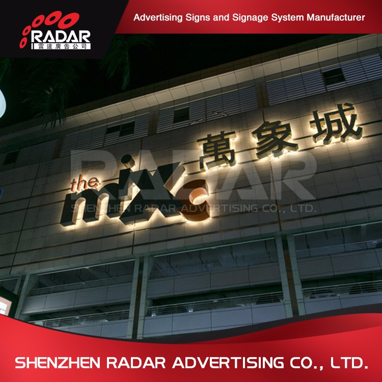 high quality 3d advertising aluminum lighted led channel letters