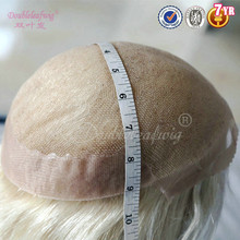 German Lace And Super Thin Skin Base Human Hair Toupee For Woman