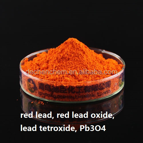 Red Lead Pb3O4 for battery, painting, ceramic, plastic and rubber
