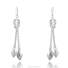 2015 Women's Striking Rhinestone 925 Sterling Silver Drop Dangle Chain Earring