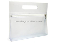 Promotional transparent vanity PVC clear small cosmetic travel bag