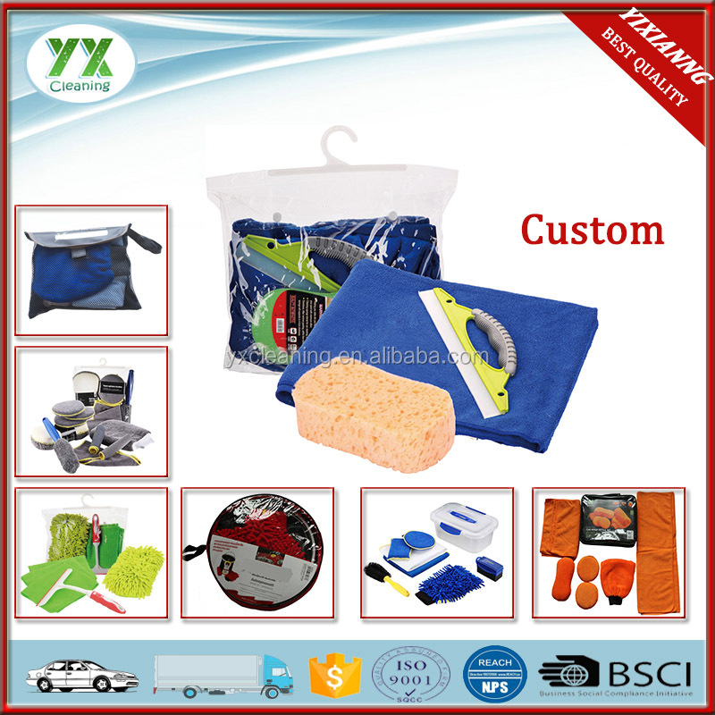 3 In 1BSCI Car Wash Tool Kit With Microfiber Towel