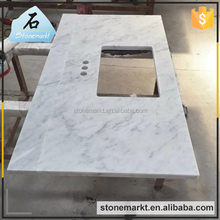 High grade white carrara stone 49x19 cultured marble vanity tops