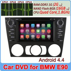 Ownice New Quad Core 1.6GHz Android 4.4 double din for BMW E90 3 Series Support OBD 1024*600