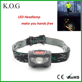 Popular Battery Powered LED Headlamp for Running with Red Light