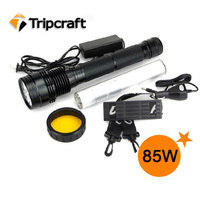 6600/7800/8700mAh 85W outdoor high power rechargeable HID TORCH LIGHT for household and hunting, camping