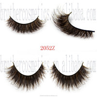 100% Real Fur False Eyelashes Mixed Colored for Daily Life