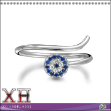 Guang Zhou CZ Evil Eye Knuckle Ring Sterling Silver Thin Stackable Rings