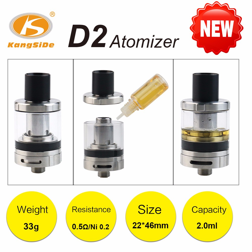 At the top of the injected burnt taste D2 atomizer