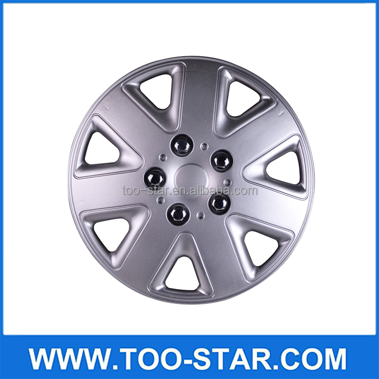 Universal Set of 4 Automobile Silver Wheel Covers Car Rim Skin Covers Hubcap 13""