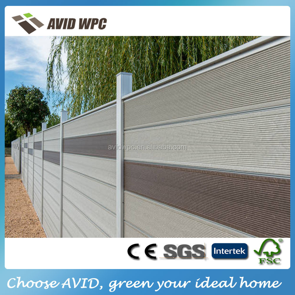 Hot sell composite garden fence/ wpc wood composite garden fence