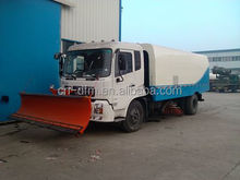 snow removal truck with street sweeper for municipal use