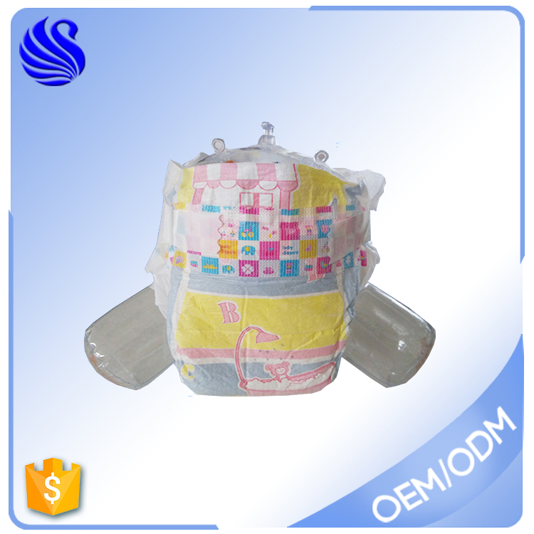 Soft Cloth Like Magic Tape Disposable In Bag Baby Diapers