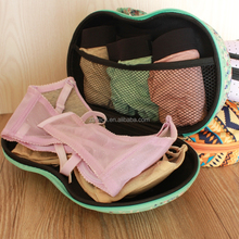 Ladies Fashion Bra Storage Case Travel Portable Eva Underwear Bra Bag with zipper