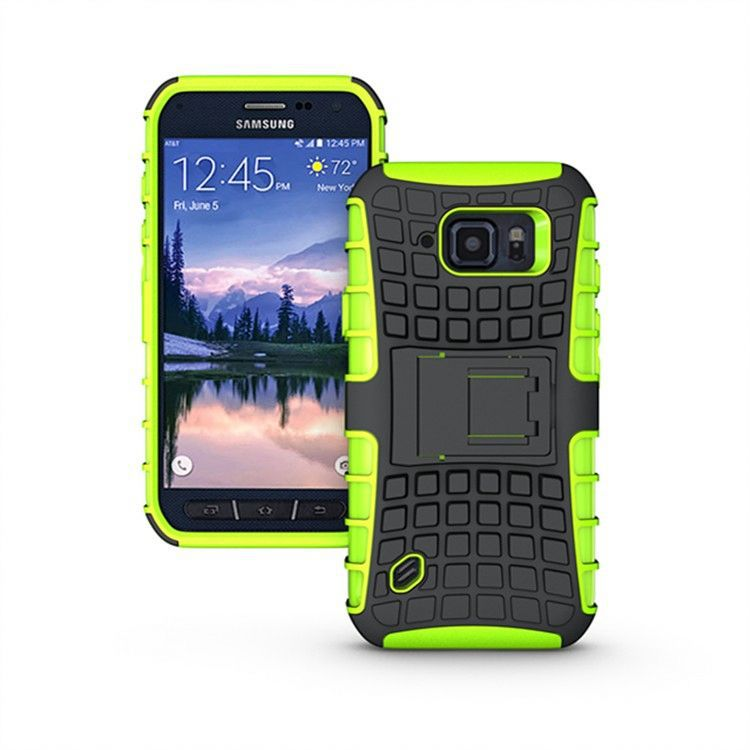 Kickstand Heavy Duty Hybrid Shockproof Case for Samsung Galaxy S4 Active I9295
