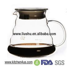 Glass Heat Resist Drip Pot for Hand Drip Coffee sever