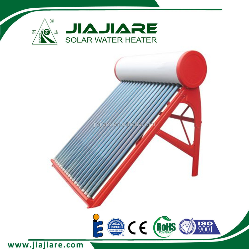 Colored galvanized steel low pressurized solar water heater system