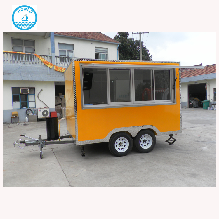 Practical and affordable color available military mobile kitchen/kiosk for shawarma slush machine /bbq food trailer used mobile