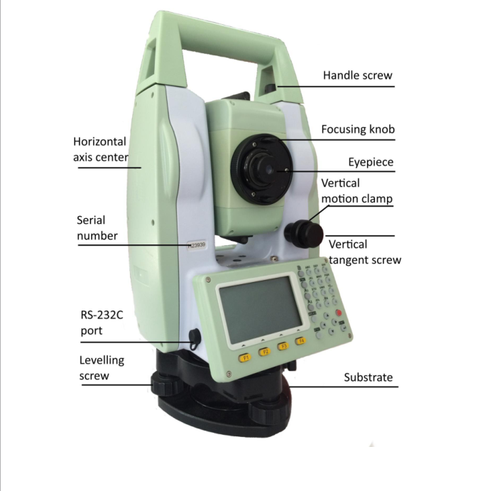 Brand Standard RS232 serial port Sunway total station,Sunway ATS420R total station surveying equipment