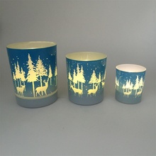 silk screen glass candle holders with different color candleholder Free Samples available