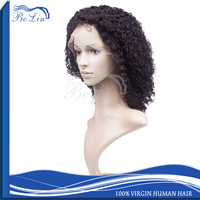 Aliexpress Wholesale Cheap Indian Remy Short Afro Kinky Lace Human Hair Wig For Black Women