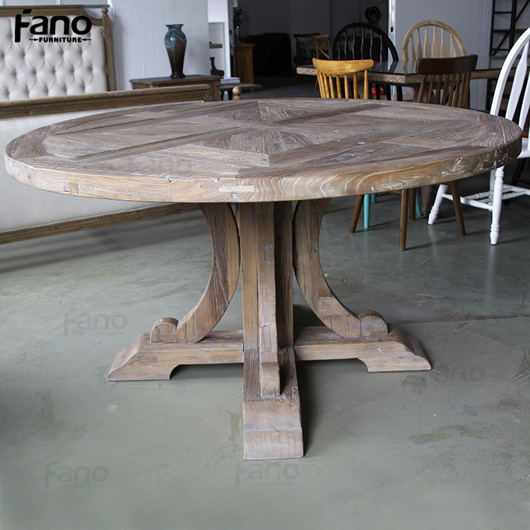 latest heavy-duty round wooden dining table designs
