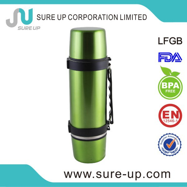 2015 bright color stainless steel insulated vaccum thermos flask lunch box (FSUN)