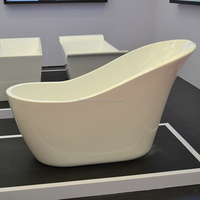 Special design custom size cast freestanding solid surface bathtub