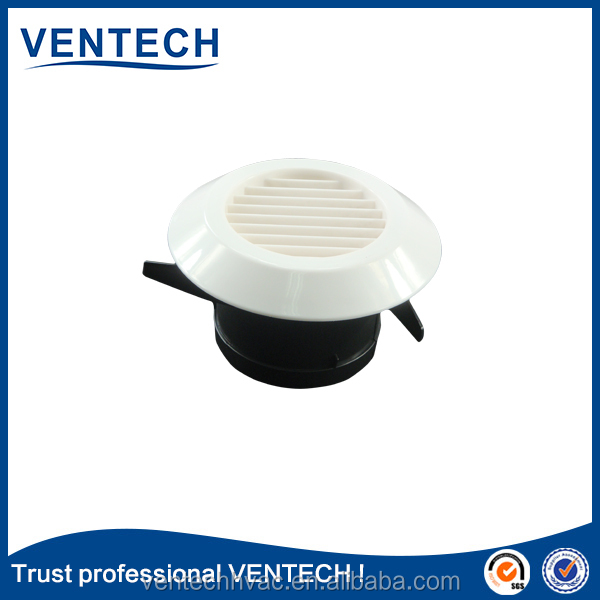 Ceiling amounted plastic air inlet exhaust air grille