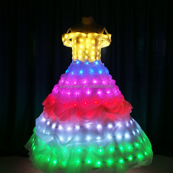 high grade LED wedding veil for party/show,lighting up cloth