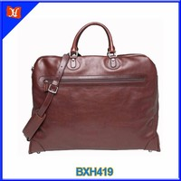 Vintage leather garment carrier best travel garment bags for mens