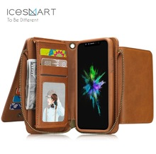 For iPhone 8 Universal Wallet mobile Phone Case 4.7/5.5 inch PU Leather sleeve Magnetic Buckle Closure For iPhone 8/8 plus case