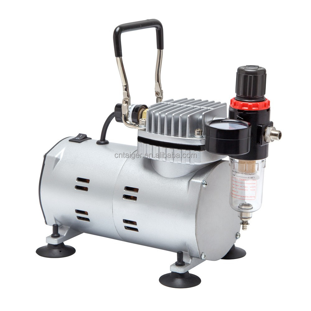 Tagore TG212 1/6HP 220V Mini Portable Single Cylinder Piston Oiless Silent Air Compressor for Airbrush with 1/8 BSP Connections