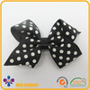 Wholesale simple style polka dots bow polyester hair pin for girls