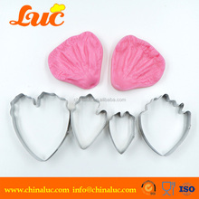 hot sale flower cake tools stainless steel peony petal cutters for fondant cake decoration