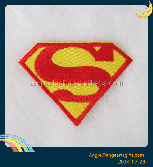 The super man S logo Lucky bear embroidery patch