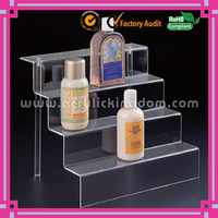 delicate clear 4-TIER STEP acrylic DISPLAY RISER