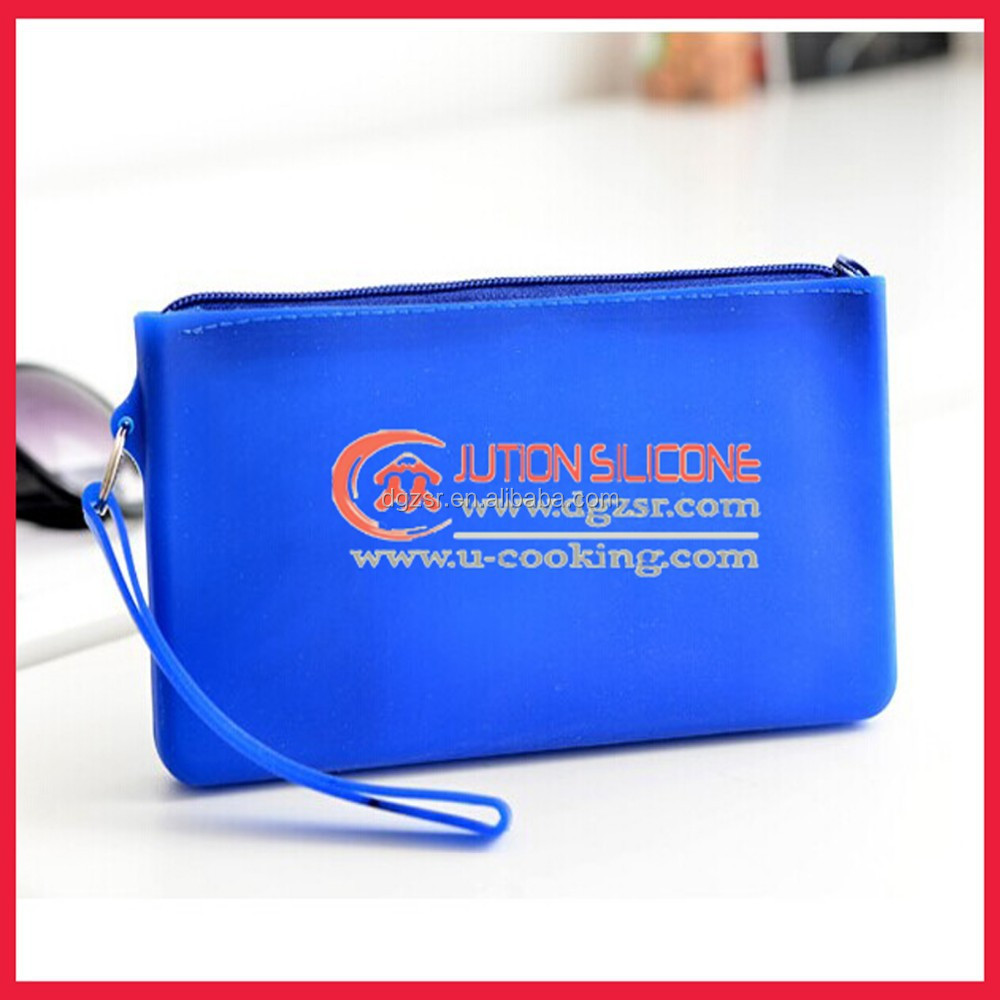 New arrival silicone zipper bag for phone/silicone coin purse