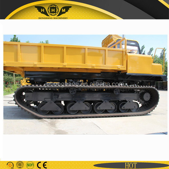 Track chassis dumper truck with 6Ton capacity and Mitsubishi engine for sale