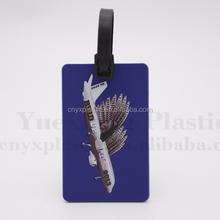 Soft silicone rubber handbag baggage tag for travelling airline in bulk for sale