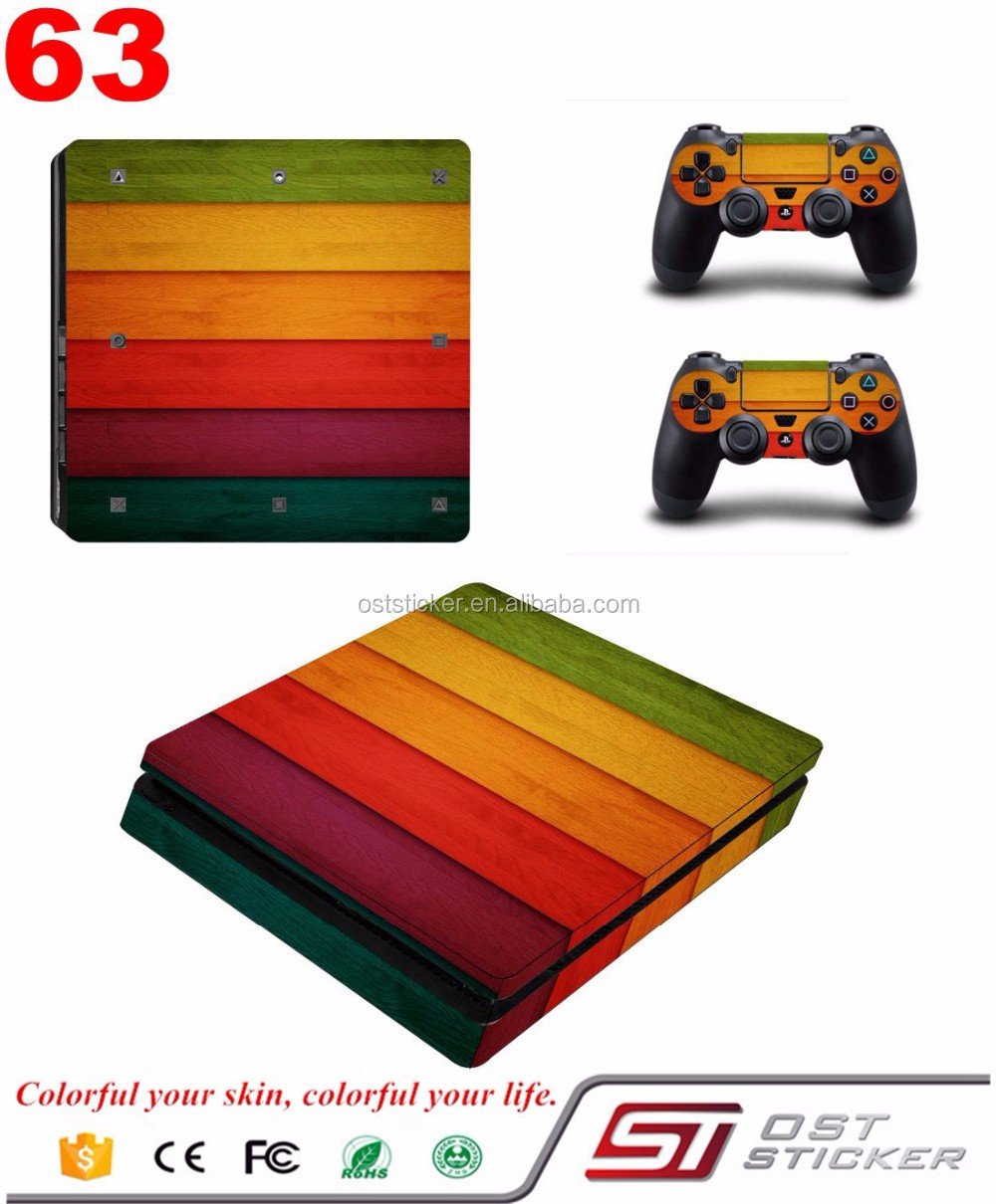 Vinyl material console skin for ps4 slim Protective Skin Sticker