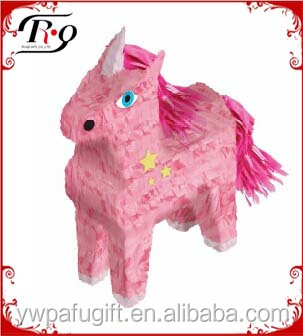 party hanging decoration pink unicorn paper pinata