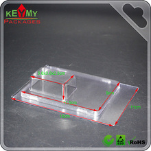 Custom thermoforming blister clamshell tray, transparent PET plastic clamshells, disposable PET plastic packaging clamshell