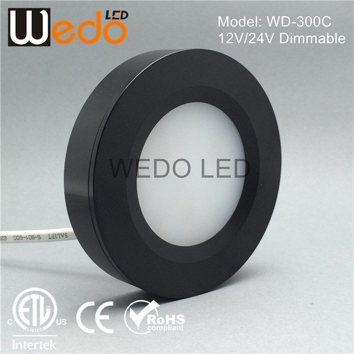 ETL list dimmable plastic cover under cabinet light