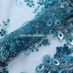 DINI handmade cord lace african fabric, french net lace latest 2015, 10 mesh spunlace fabric