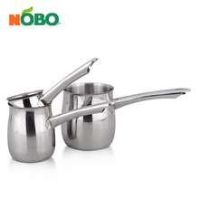 Factory price 3 pcs stainless steel coffee boiling pot milk pot/coffee mug with long handle