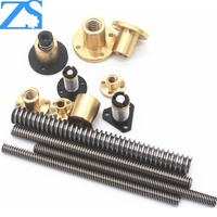 Carbon Steel Trapezoidal Lead Screws For Mechanism