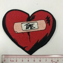 Heat Press Custom Badge Embroidery Iron On Patch Applique For Clothing