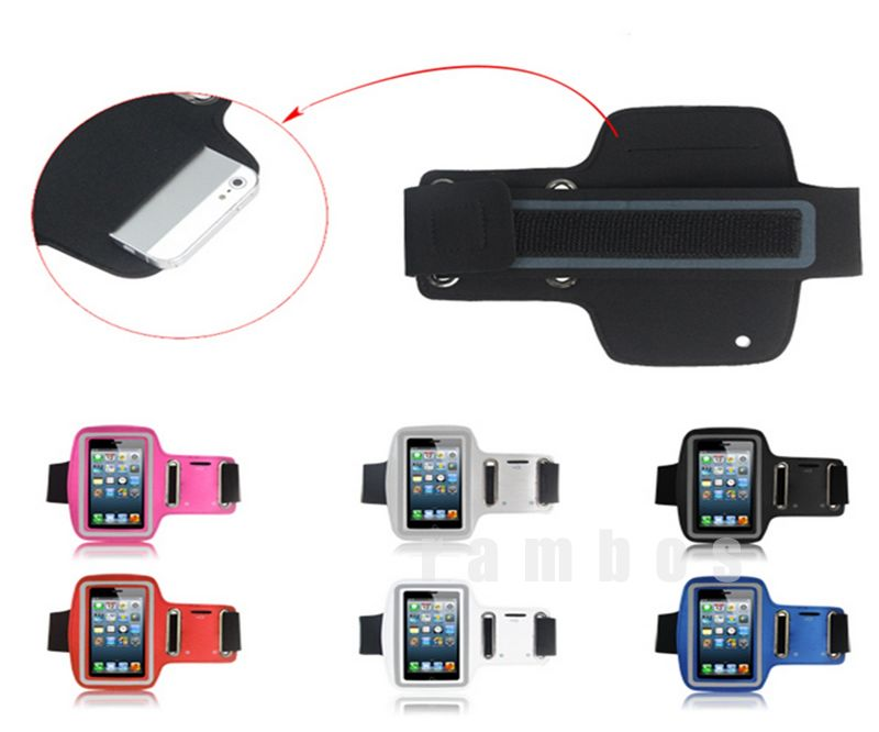 PU Leather Sports Running Jogging Waterproof Armband Case Cover Pouch for iphone 5 5s