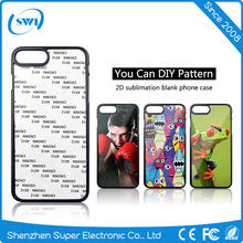 TPU PC Blank 2D Sublimation Phone Case For iphone 7 TPU case